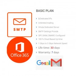 Unlimited SMTP - Full DKIM, SPF FOR OFFICE365 OR GMAIL ( 30 DAYS )