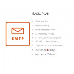 Unlimited SMTP - Full DKIM, SPF, Private Domain, Private IP
