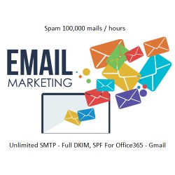 SEND 100,000 EMAILS / 1 HOUR ( FOR OFFICE365 OR GMAIL )