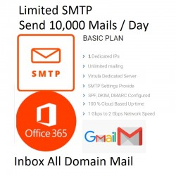 LIMITED SMTP ( SEND 10,000 MAILS / DAY )