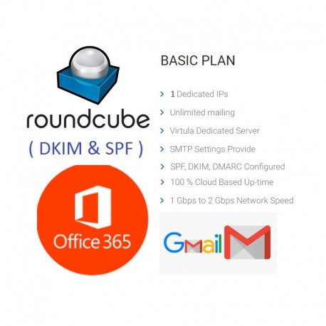 Unlimited RoundCube Webmail - Full DKIM, SPF FOR OFFICE365 - GMAIL